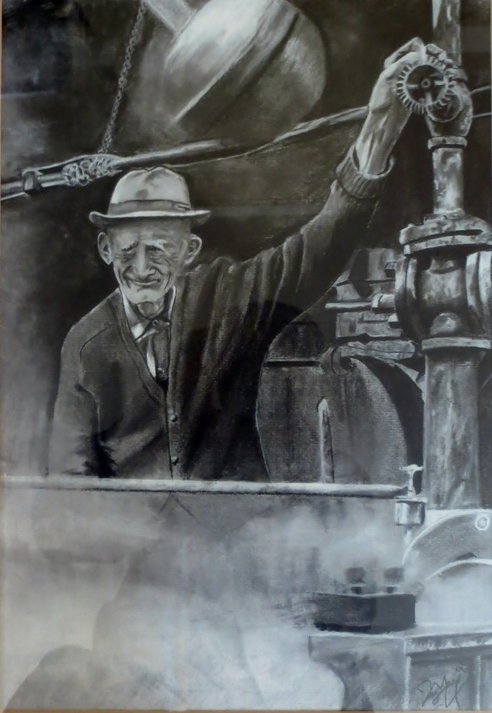 Maurice Minor used the steam engine at his sawmill on MInor Road