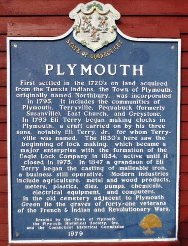 Plymouth History sign at the old TollHouse