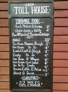 Toll charges  for 1834