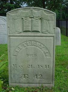 Eli Terry, Jr. gravestone