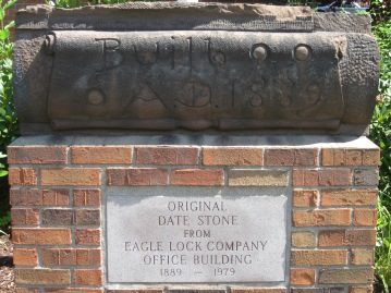 Date stone from the  Eagle Lock factory-1889