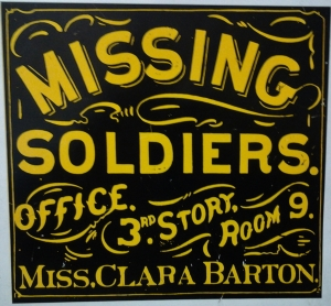The sign in front of the Missing Soldiers Office in Washington, D.C.