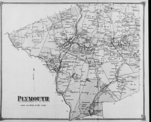 1874 map of Plymouth