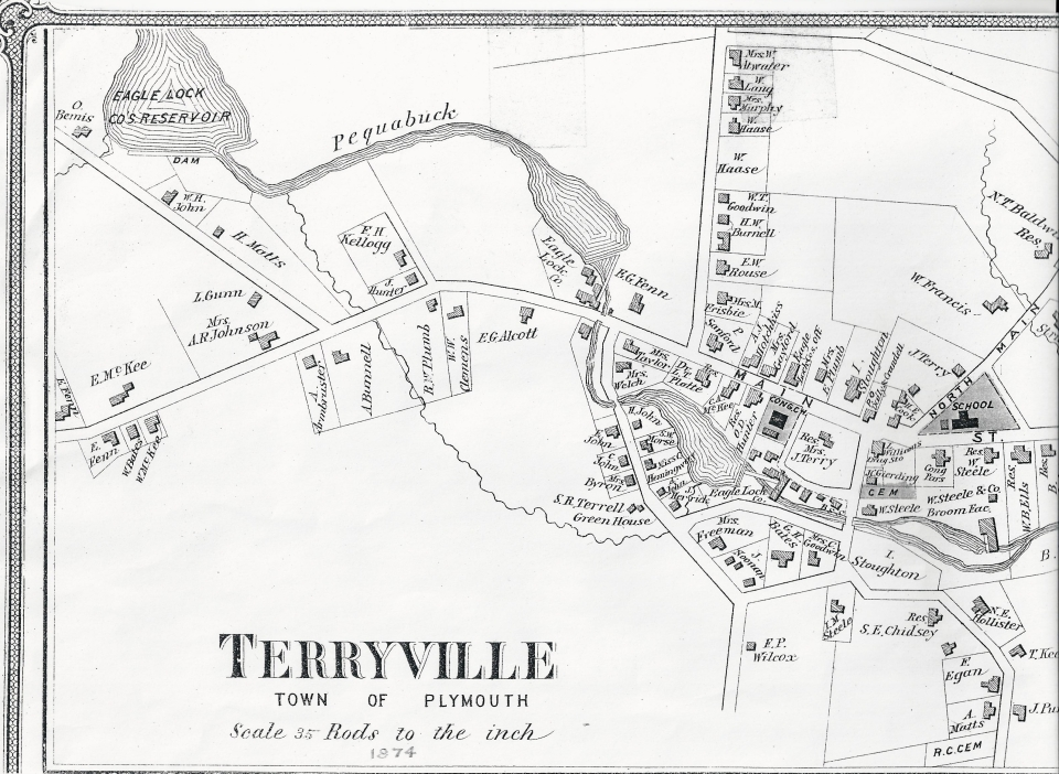 1874 Map of Terryville