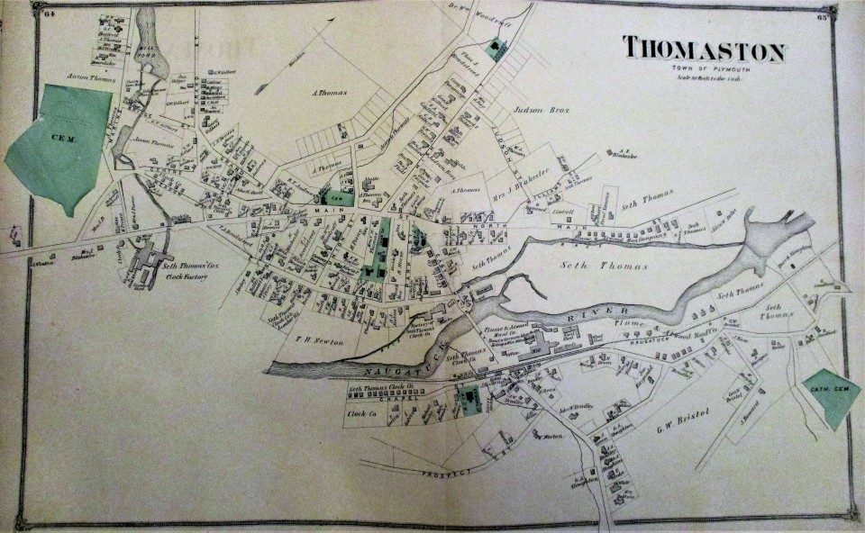 1874 map of Thomaston color